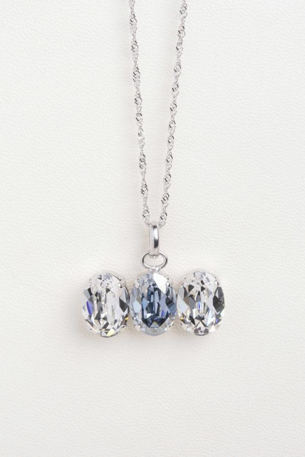 collar swarovski tres piedras cristal