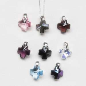 collar swarovski cruz varios colores