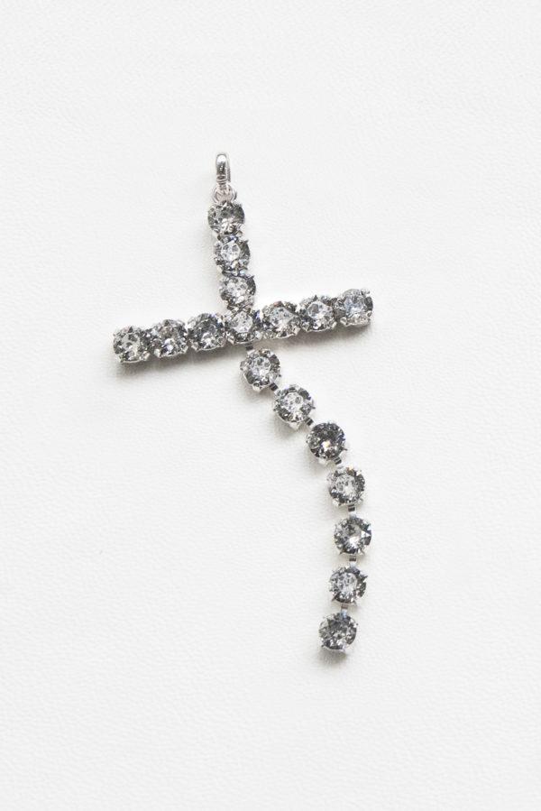 collar swarovski brillantes cruz cristal