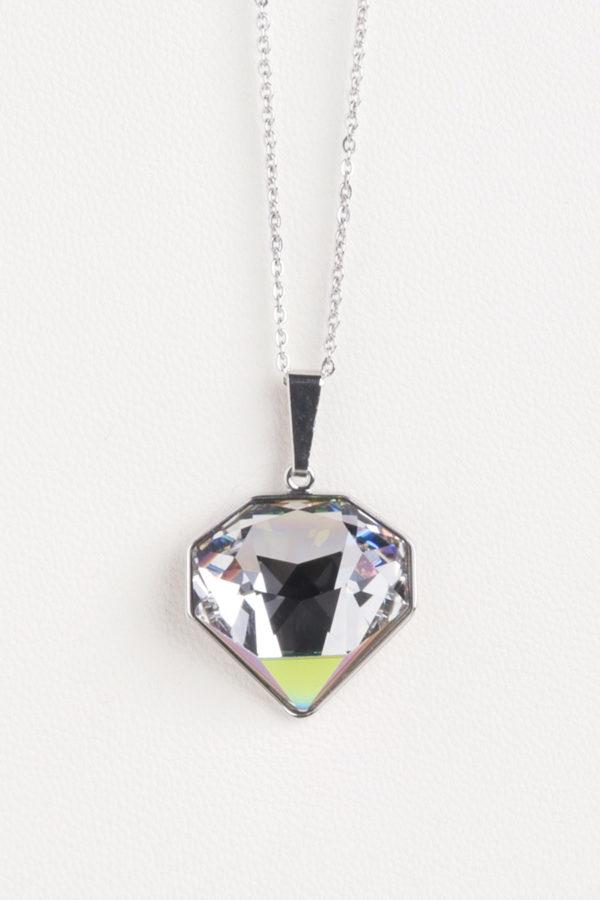 collar swarovski corazón verde