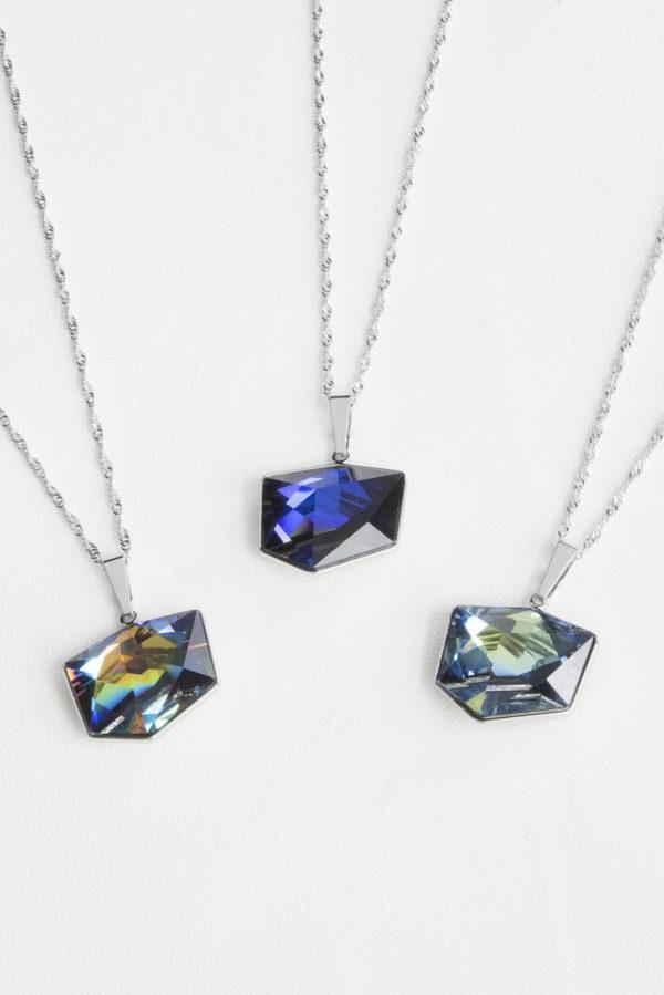 collar swarovski cubo pequeño colores