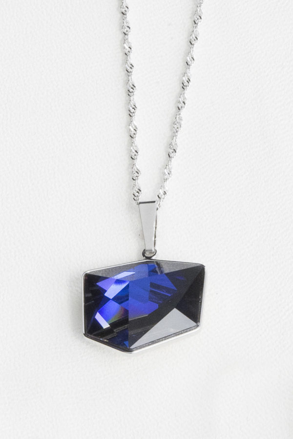 collar swarovski cubo pequeño lila