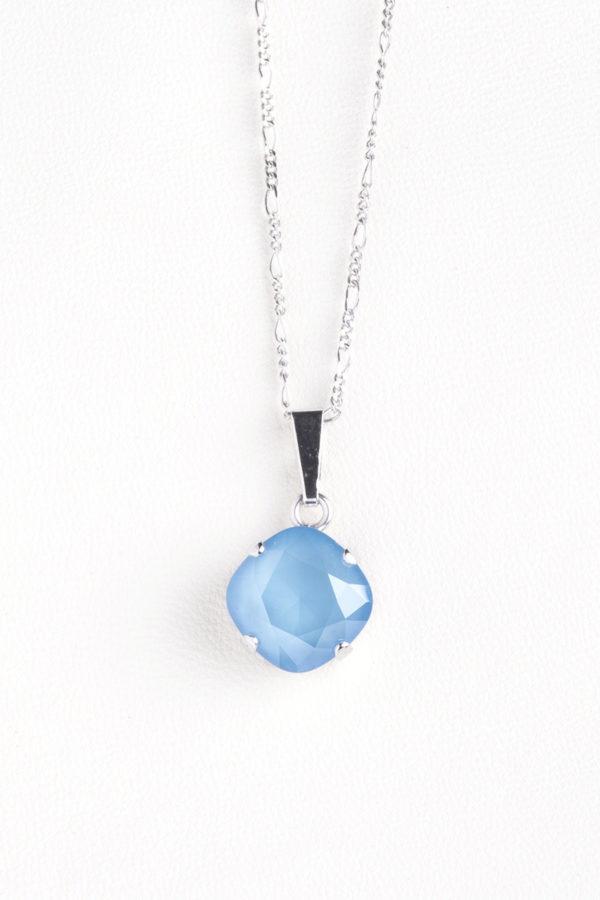 collar swarovski circulo azul