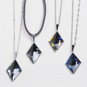 collar swarovski diamante colores