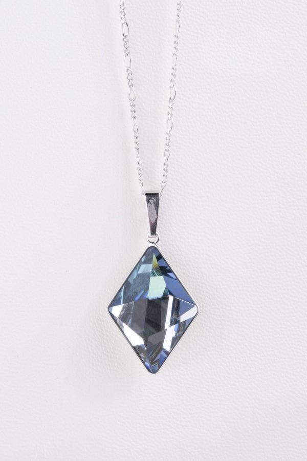 collar swarovski diamante azul claro