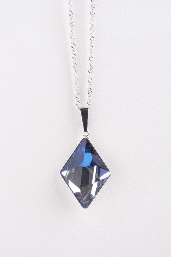 collar swarovski diamante azul oscuro