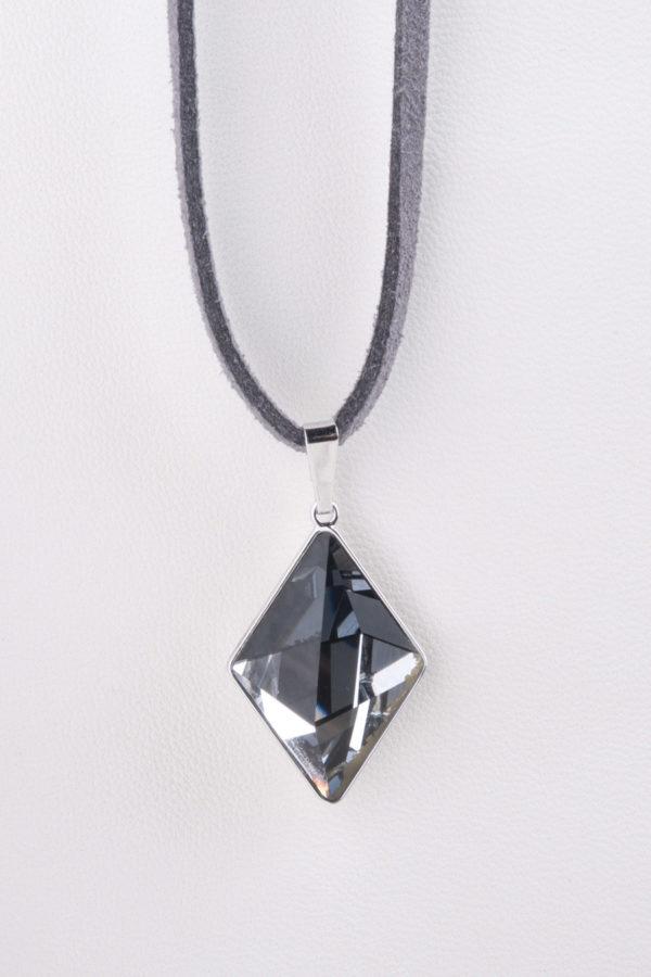 collar swarovski diamante gris