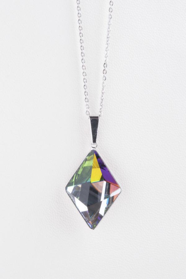 collar swarovski diamante tricolor