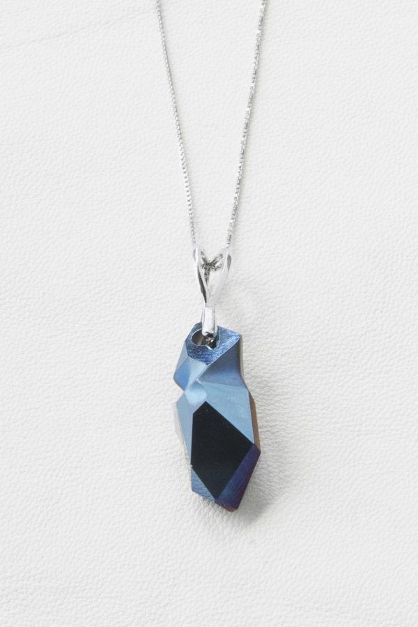 collar swarovski gota color azul